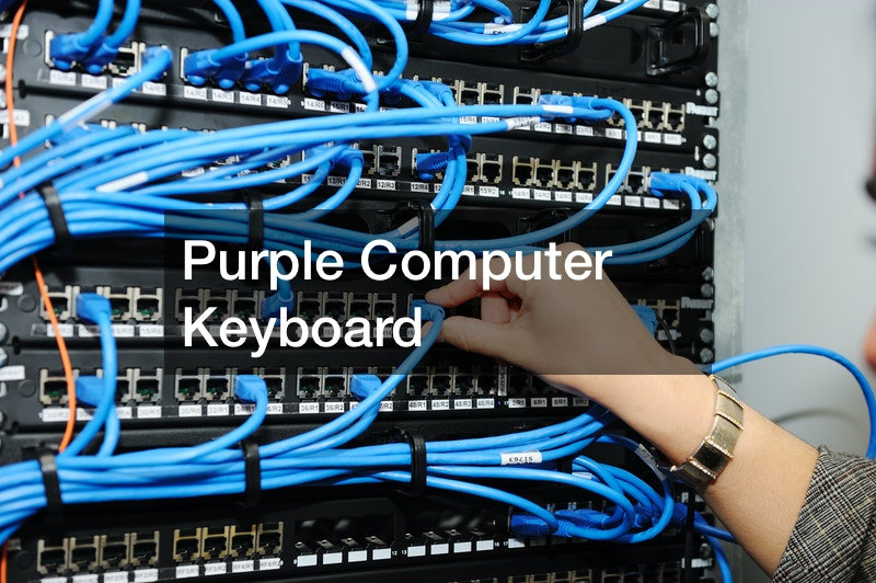 Purple Computer Keyboard